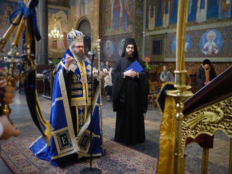"""В митрополитската катедрала """"Св. Неделя"""" бе отслужен целият Богородичен акатист"""