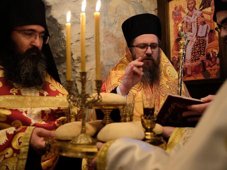 """Тържествена вечерня в Леворечкия манастир """"Св. 40 мъченици Севастийски"""""""