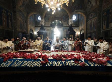 """Вечерня и Опело на Света Богородица бяха отслужени в катедралния храм """"Св. вмчца Неделя"""""""
