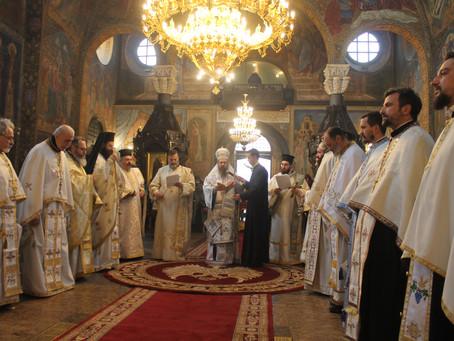 Поздравление от името на клира на Софийска епархия към патриарх НЕОФИТ по случай имения му ден