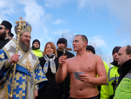 Велик Богоявленски водосвет с хвърляне на Христовия кръст в София