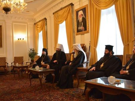 Патриарх Неофит прие Виницкия и Барски митрополит Варсануфий