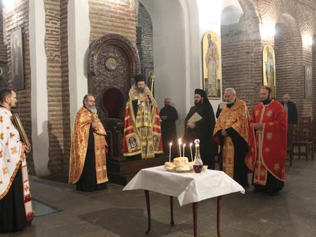 Празнична архиерейска вечерня в чест на св. Климент Римски