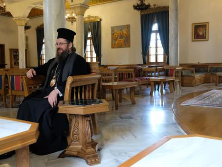 """Епископ Поликарп посети манастир """"Св. Йоан Предтеча"""", с. Акритохори, Гърция"""