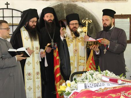 Бе извършено опелото и погребението на архимандрит Антим Дулев