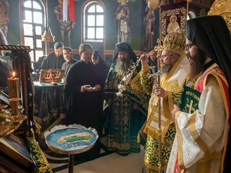 Св. Силуан Атонски бе почетен с архиерейска св. Литургия в Църногорския манастир