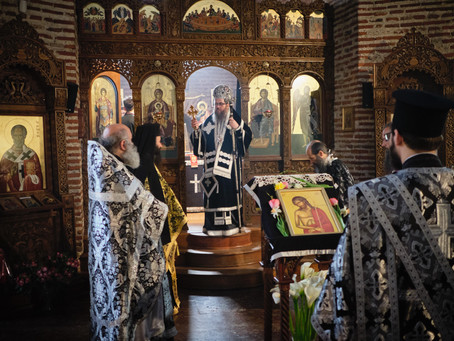 На Велики понеделник бе отслужена Архиерейска Преждеосвещена св. Литургия