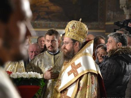 Епископ Поликарп взе участие в службата за Бъдни вечер в Патриаршеската катедрала