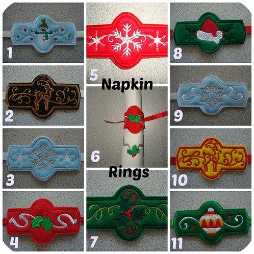 Napkin Rings and Napkins