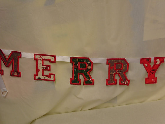 Small Merry Christmas Bunting