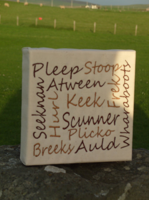 """6"""" Orkney Word Canvases"""