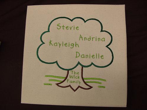 """10"""" Family Tree Canvas"""
