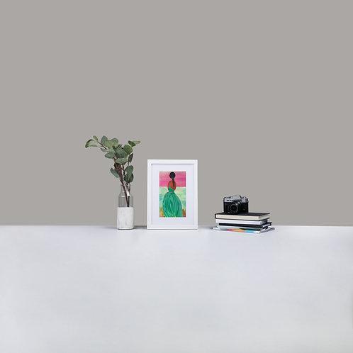 Pondering Matte Paper Framed Poster With Mat