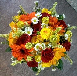 Bright Yellow & Red Bouquet