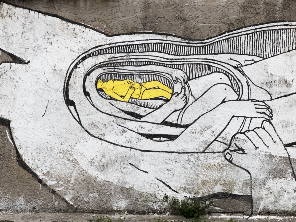 Blu - Street art in Comacchio