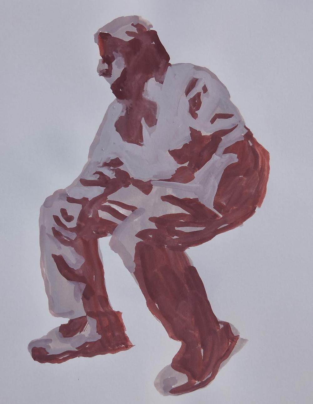 Peggi Kroll Roberts, figure sitting