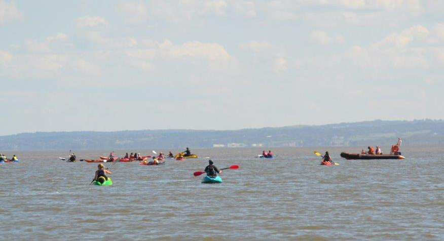 Wirral Kayak Challenge National Marine safety boat