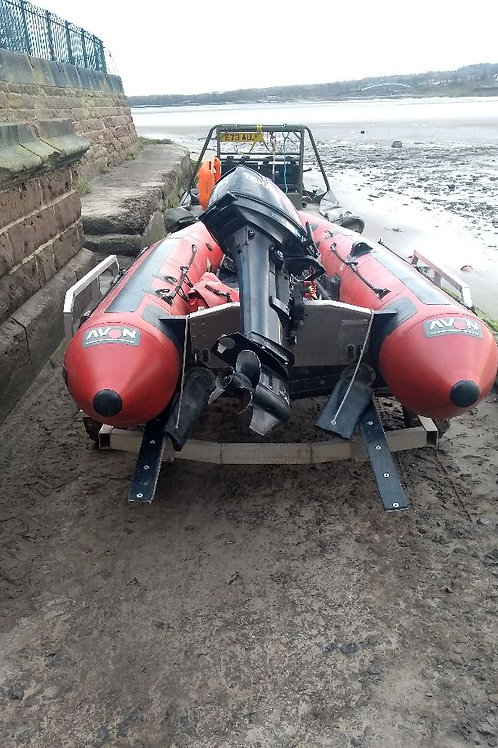 DeeRescue - Avon 380 Swift water rescue boat