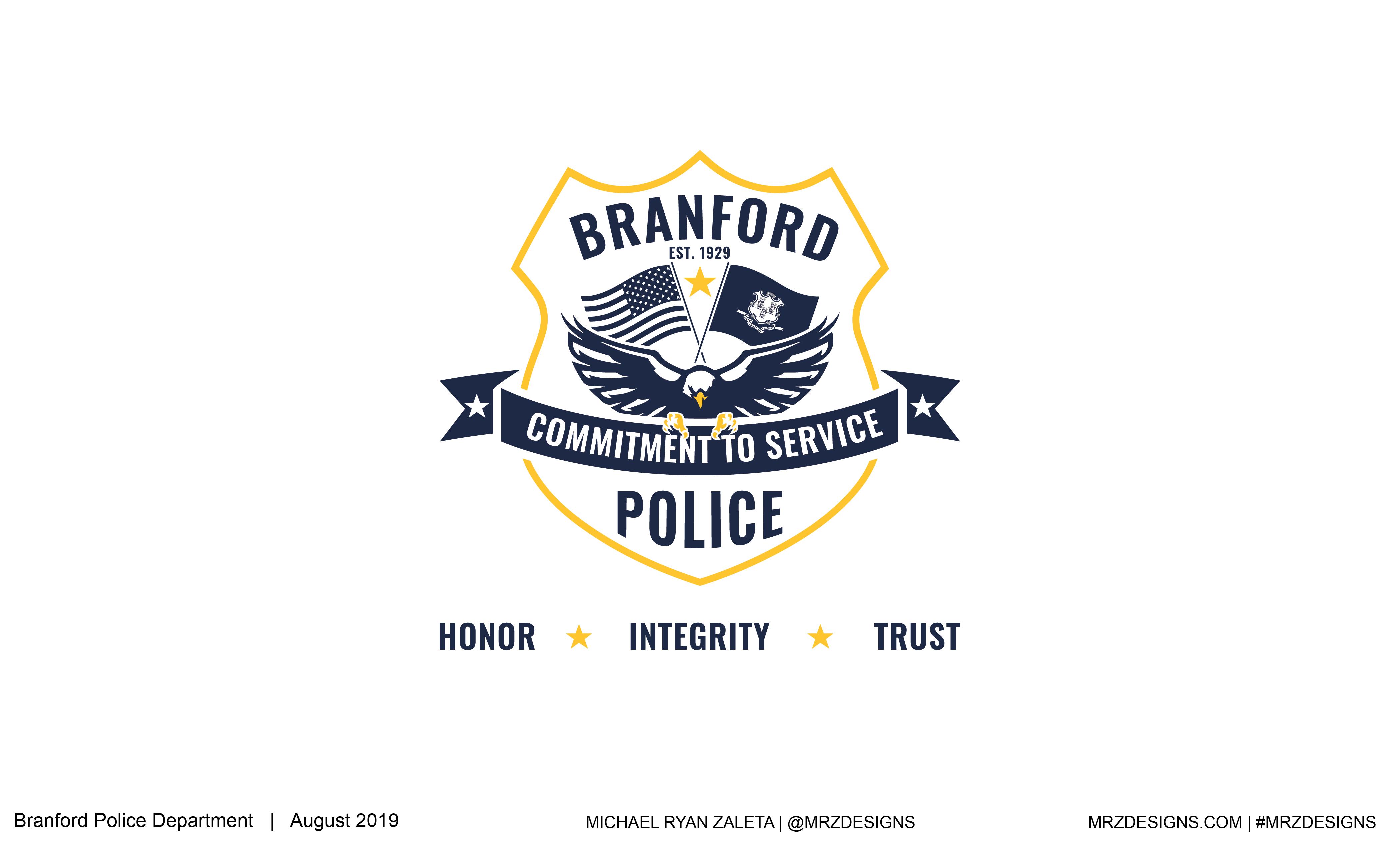 Branford Police Logo Design