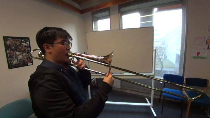 Learn some handy tips on trombone playing from Mr Don Kow.Common mistakes to prevent when playing soft passages on trombone. (Excerpt from Festival on Earth bar 65-69) Watch this space for our Learn like a Pro series for more instrument playing tips.
