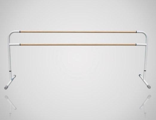 スタジオ用バレエバー|バレエマニア・スタジオ2段(木製/高さ固定式)|移動式タイプ
