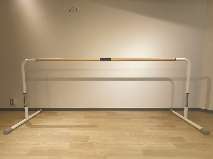 スタジオ用バレエバー|バレエボヤージュ・スタジオ1段(木製/高さ調節式)|バレエバーレンタル2台組