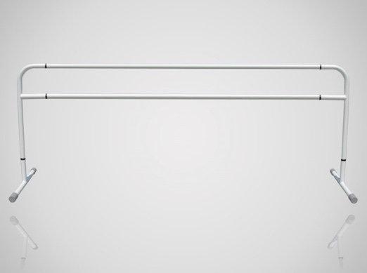 スタジオ用バレエバー|バレエマニア・スタジオ2段(スチール/高さ固定式)|移動式タイプ