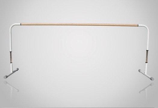 スタジオ用バレエバー|バレエマニア・スタジオ1段(木製/高さ調節式)|移動式タイプ