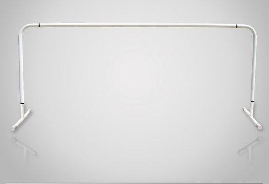 スタジオ用バレエバー|バレエマニア・スタジオ1段(スチール/高さ固定式)|移動式タイプ
