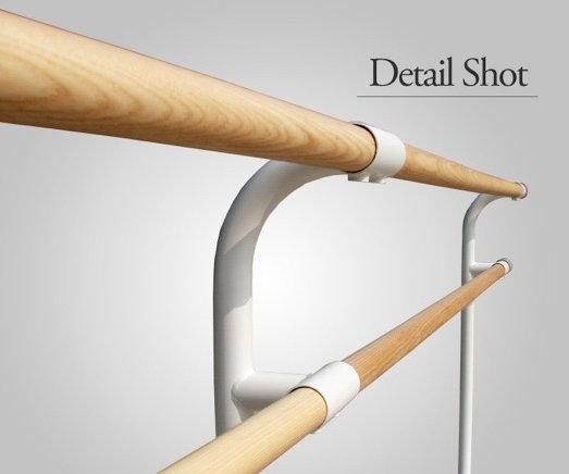 床固定式スタンド2段|固定式バレエバー