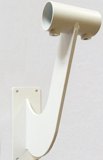 壁固定式金具1段(ホワイト)|固定式バレエバー