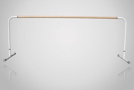 スタジオ用バレエバー|バレエマニア・スタジオ1段(木製/高さ固定式)|移動式タイプ
