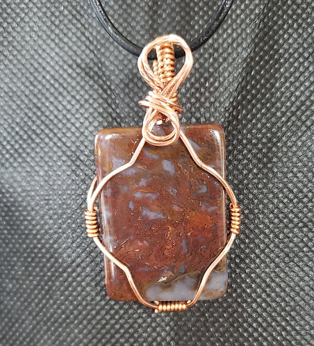 "1"" x 1-1/2"" Agate wrapped in Copper"