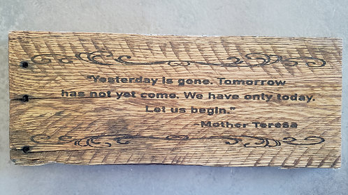 Laser Etched Mother Teresa Quote
