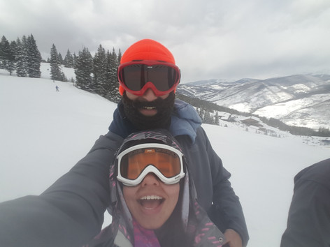Snowboarding in Vail, CO