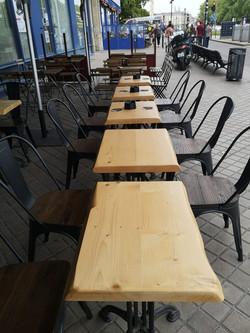 Table de bar en bois massif