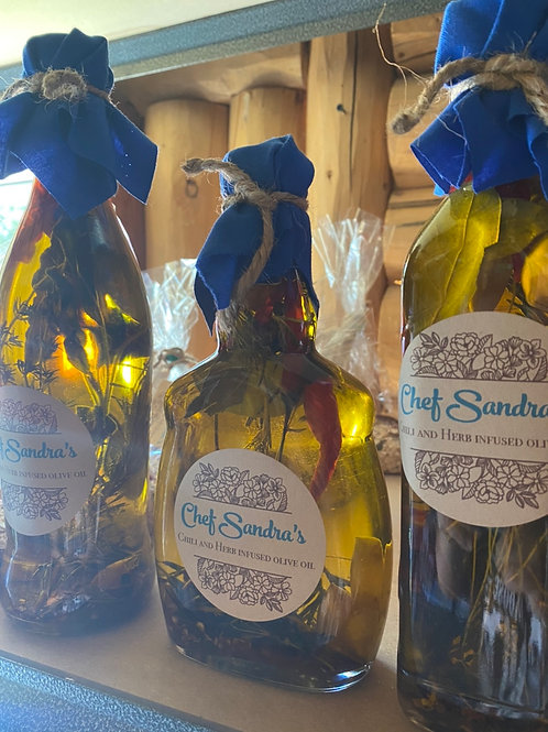 Chef Sandra's Italian Style Herb and Pepper infused Olive Oil