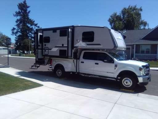 Truck camper at customer's address