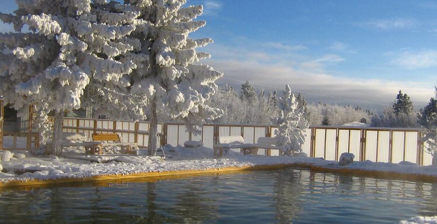 Takhini Hot Springs in Winter