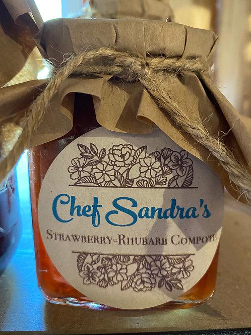 Chef Sandra's Homemade Strawberry-Rhubarb Compote