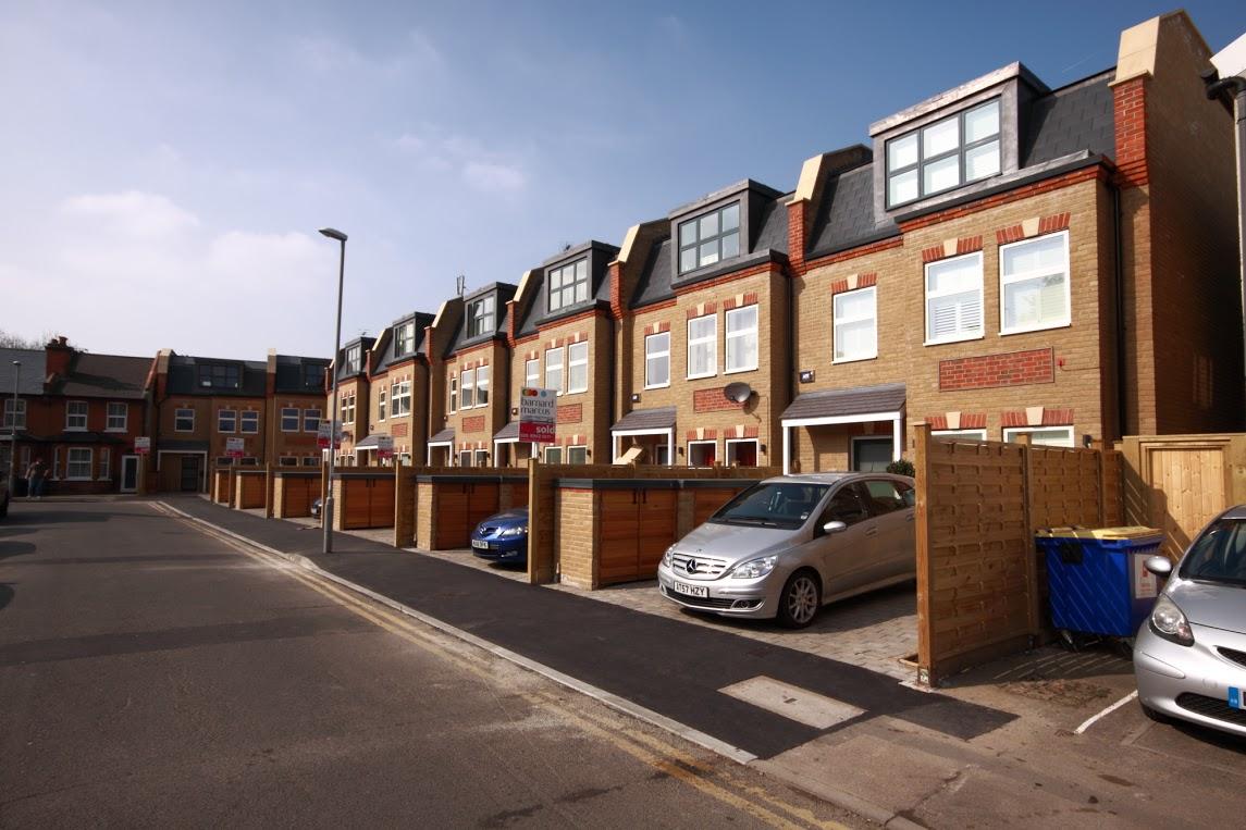 A development of 8 modern houses on Grafton Road, New Malden.