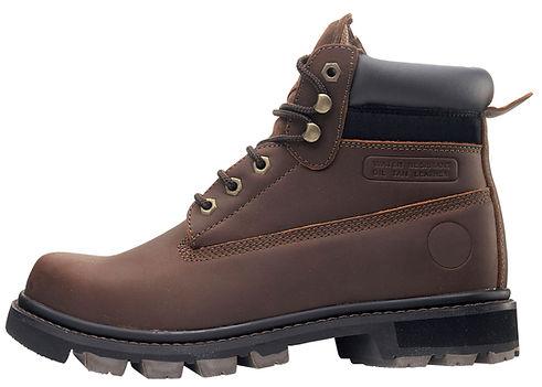 En cuir brun Chaussures de randonnée