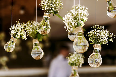 Original wedding floral decoration in th