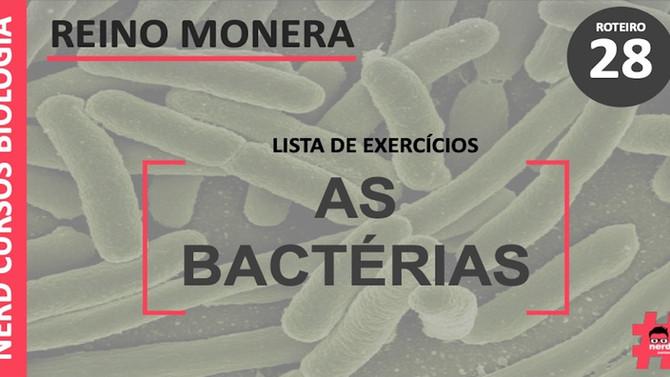 LISTA DE EXERCÍCIOS SOBRE AS BACTÉRIAS