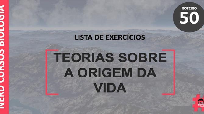 Lista de exercícios sobre origem da vida