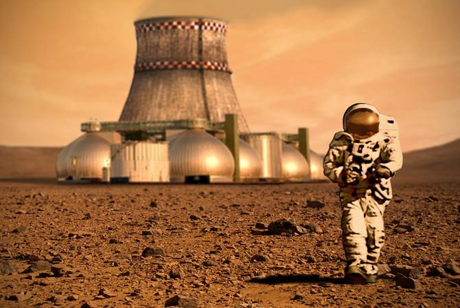Altos níveis de radiação, uma barreira a sobrevivência em Marte.