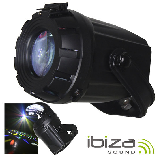 Projetor Luz C/ 1 LED 10W 2-Em-1 Espelhos IBIZA 2-IN-1SPOT