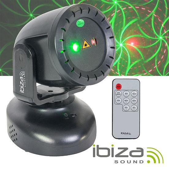 Moving Head Laser Vermelho Verde 130mW 8 Gobo Mic TWIRLY-LZR