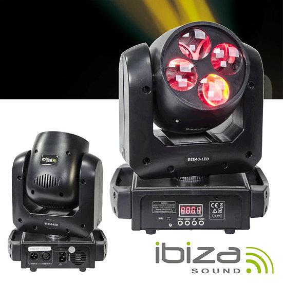 Moving Head Mini 4 LEDS 10W DMX IBIZA BEE40-LED