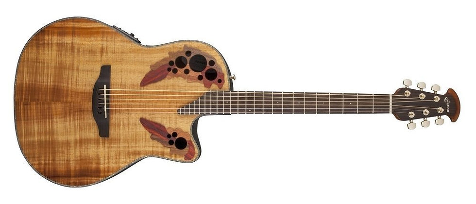 Guitarra Electro-Acústica Celebrity Elite Plus Mid Cutaway  Ovation
